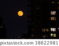 Red moon in NYC 38622981