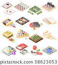 Board Games Isometric Icons Set 38623053