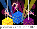 Pole Dance Performance Illustration 38623073