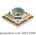 Baseball Sport Stadium Isometric Composition  38623086