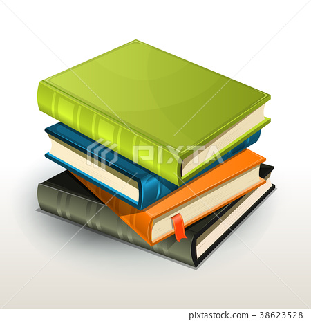 Stack Of Books And Pics Albums 38623528