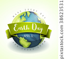 Happy Earth Day Banner 38623531
