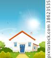 House Inside Spring Garden 38623535