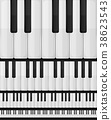 Piano Keyboard Seamless Background 38623543