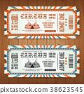 Vintage Retro Circus Tickets 38623545