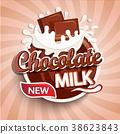 milk, chocolate, logo 38623843