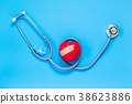stethoscope and red heart 38623886