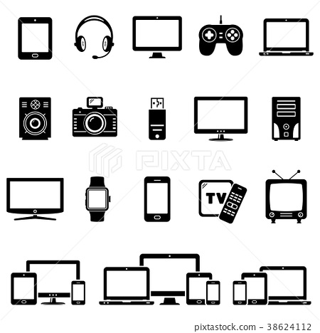 Set of Modern Digital devices icons 38624112