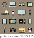 Technology and multimedia digital devices icons  38624115