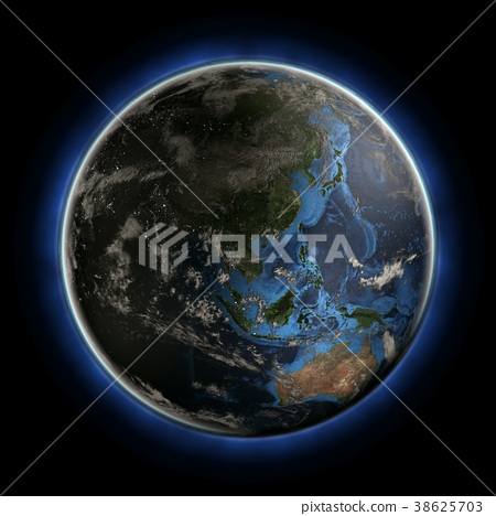 Australia and Oceania 3d rendering 38625703