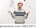 Chirstmas Concept - Happy young caucasian beard 38625971