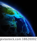 Earth continent 3d rendering planet 38626002