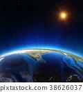 Indian ocean from space 3d rendering 38626037