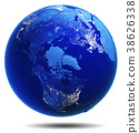 Planet Earth white isolated 3d rendering 38626338