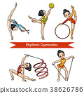 Vector set of rhythmic gymnastics 38626786