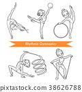 vector, rhythmic, gym 38626788