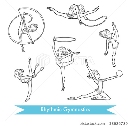 Vector set of rhythmic gymnastics 38626789