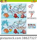find differences with fish sea life characters 38627327
