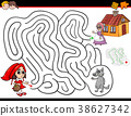 cartoon maze activity with little red riding hood 38627342