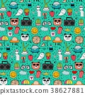 Pattern With Hand Drawn Doodle Lovely Background.  38627881