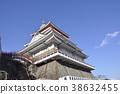 성, 건축물, 푸른 하늘 38632455