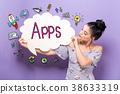 应用程序 女人 女性 38633319
