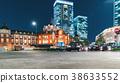 Tokyo Station illuminated at night 38633552