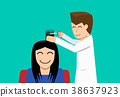 Hairdresser and woman customer in flat vector art 38637923