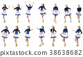 Cheerleader isolated on the white background 38638682