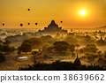 Scenic sunrise above Bagan in Myanmar 38639662
