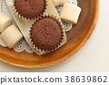 巧克力蛋糕 紙杯蛋糕 甜食 38639862