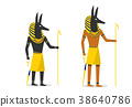 Anubis in flat vector design isolated on white 38640786