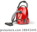 Vacuum cleaner isolated on white background 38643445