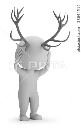 3d small people - horns 38644519