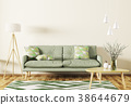Interior of living room with sofa 3d rendering 38644679
