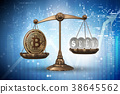 bitcoin, scales, 3d 38645562