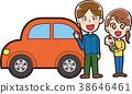 ภาพประกอบของรถยนต์และครอบครัว 38646461