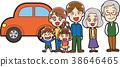 รถและภาพประกอบครอบครัวสามครอบครัวของฉัน 38646465