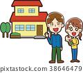가족과 내 집의 일러스트 소재 38646479