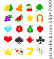 casino, icon, vector 38647009