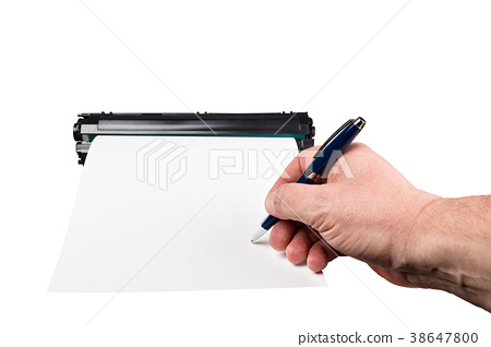 Signature on a piece of paper 38647800