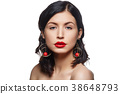 beautiful girl with red lips 38648793