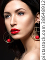 beautiful girl with red lips 38648912