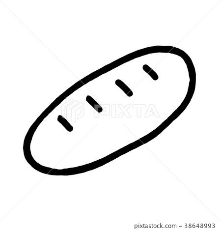 hand drawn baguettes. cartoon vector 38648993