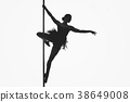 beautiful pole dancer girl silhouette 38649008