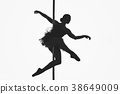 beautiful pole dancer girl silhouette 38649009