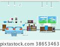 living room or office design interior 38653463