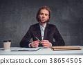 男性 男人 桌子 38654505