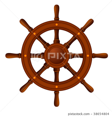 ship wheel marine wooden 38654804