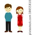 부부, 전신, 남녀 38655810